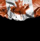Canada waving flag on black background