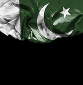 Pakistan waving flag on black background