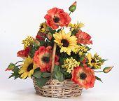 plastic acrylic flower arrangement