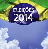 2014 Election in Brazil (Portuguese: Eleicoes 2014) on a beautiful day