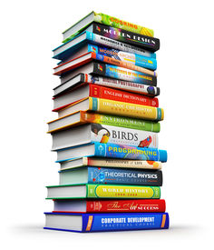 pic of piles  - Creative abstract science knowledge education back to school business and corporate office life concept - JPG