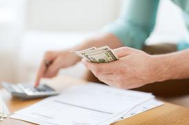 foto of calculator  - savings - JPG