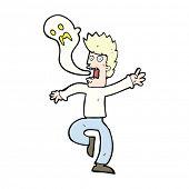 picture of leaving  - cartoon ghost leaving man - JPG