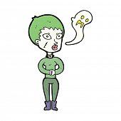 image of undead  - cartoon undead woman - JPG