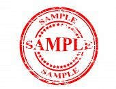 foto of mustering  - Stamp with word sample inside vector illustration - JPG