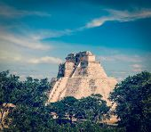 picture of mayan  - Vintage retro effect filtered hipster style image of ancient mayan pyramid  - JPG