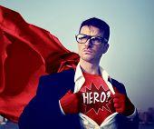 picture of heroes  - Superhero Businessman Hero Comic Explosion Concept - JPG