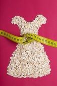 foto of measurements  - Dieting healthy eating slim down concept - JPG