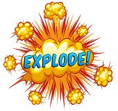 stock photo of slang  - Word explode with cloud explosion background - JPG