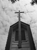 Black And White Chapel Cross