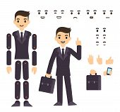 Постер, плакат: Businessman Character Animation
