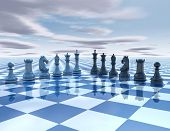 stock photo of surreal  - chess pieces - JPG