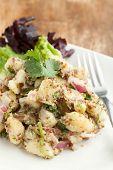 stock photo of whole-grain  - Potato salad freshly homemade without mayonaise - JPG