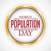 picture of population  - illustration of a stylish text for World Population Day - JPG