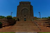 foto of hilltop  - The Voortrekker Monument is located just south of Pretoria in South Africa - JPG