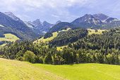 picture of saanen  - View on the Alps during summer Switzerland - JPG