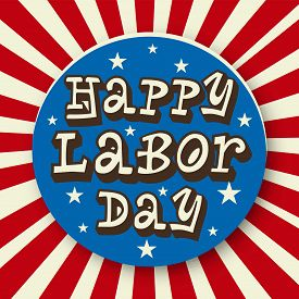 picture of labor  - illustration of a colorful stylish text for Labor Day - JPG