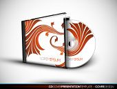 CD Cover Design with 3D Presentation Template | Everything is Organized in Layers Named Accordingly