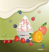 fruits yogurt design