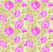 picture of shabby chic  - roses pattern - JPG