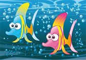 Couple of fish in the ocean
