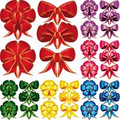 stock photo of ribbon bow  - Vector Set Bow - JPG