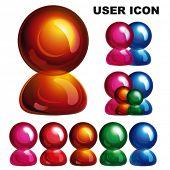Ícone de usuário brilhante, Eps10.