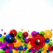 picture of colorful banner  - The circles on a white background - JPG