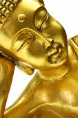Golden sleeping Buddha