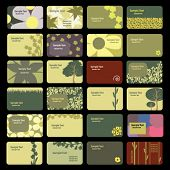 Cartões de visita: Flores, natureza