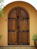 Front Door - Arched Wooden