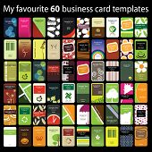 60 Colorful Vertical Business Cards