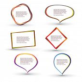 abstract speech bubbles eps10 design