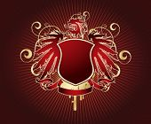 Gold & red shield design