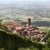 Ancient city of Cortona in Tuscany Italy