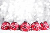 foto of happy holidays  - Christmas balls on abstract background - JPG