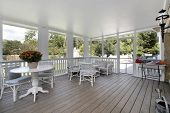 foto of screen-porch  - Porch in luxury home - JPG