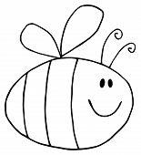 Flying Bee Cartoon Character