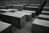 The Holocaust memorial monument in Berlin Germany