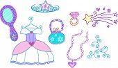 Princess Dress Up Vector Illustration