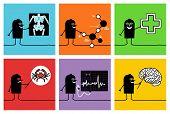 6 characters - scientists & doctors