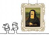 "stock photo of mona lisa  - ""Mona Lisa"" cartoon - JPG"