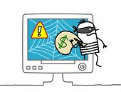 stock photo of rogue  - web robber - JPG