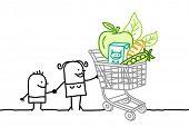 carrinho de compras & de alimentos orgânicos