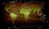 illustration of world map on textured background