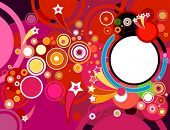 abstract party background with circles