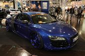 Essen - Nov 29: Blue Audi R8 Custom
