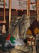 Grey Antique Carousel Horse