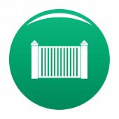 Steel Fence Icon. Simple Illustration Of Steel Fence Vector Icon For Any Design Green poster