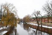 picture of brest  - View of the river Mukhavets in Brest Fortress Brest Belarus - JPG